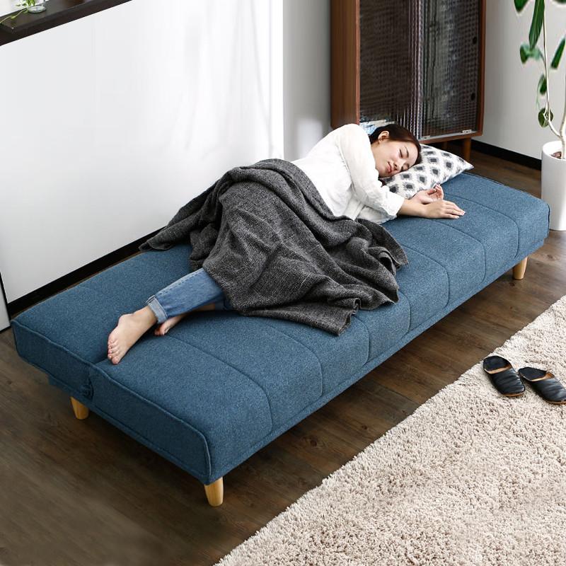 日式简约多功能折叠布艺沙发床两用北欧小户型客厅卧室小沙发组合图片