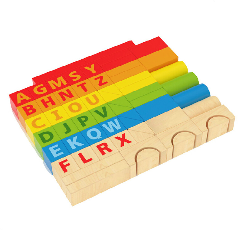 hape60粒 积木益智玩具 木制宝宝儿童启蒙智力 欧洲原