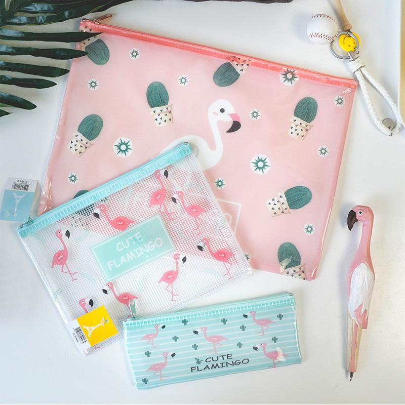 韩国可爱卡通文件袋文件夹 便携a5资料袋 a4网格袋 笔袋 零钱包