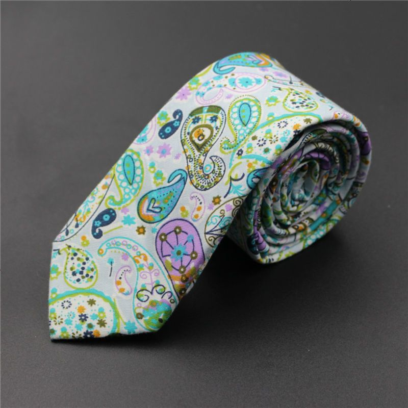 日式和风系列秘密花园图案纯棉印花多色花瓣涂色领带