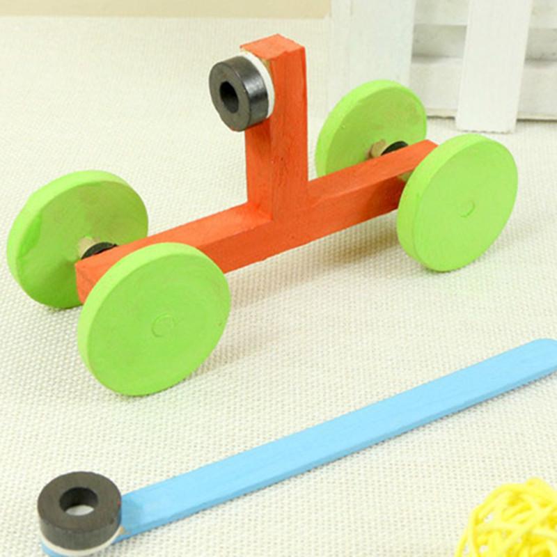 磁力小车科技手工小制作diy磁性物理科学实验木制模型
