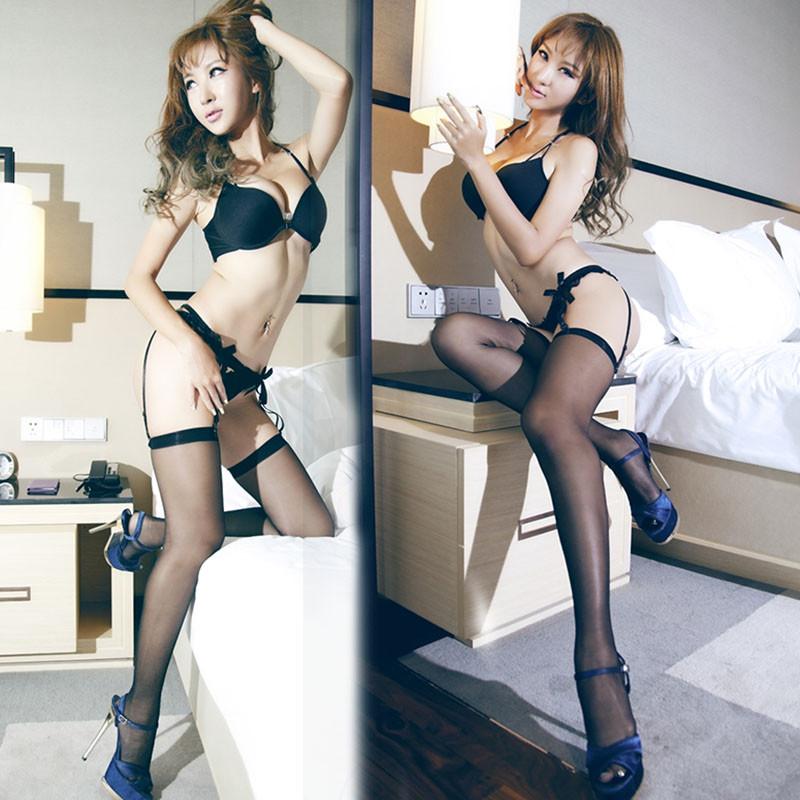 selebritee套装丝袜性感丁字裤情趣丝袜v套装吊带透明筱慧情趣尤果网图片