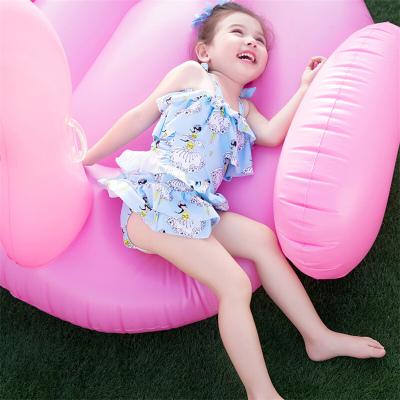 儿童泳衣女孩游泳衣小女生中小童大童学生连体衣遮肚泳装