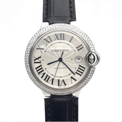【正品二手95新】卡地亚 Cartier 蓝气球系列 手表 精钢 后镶钻 自动机械 36表径 女士腕表 W69017Z4