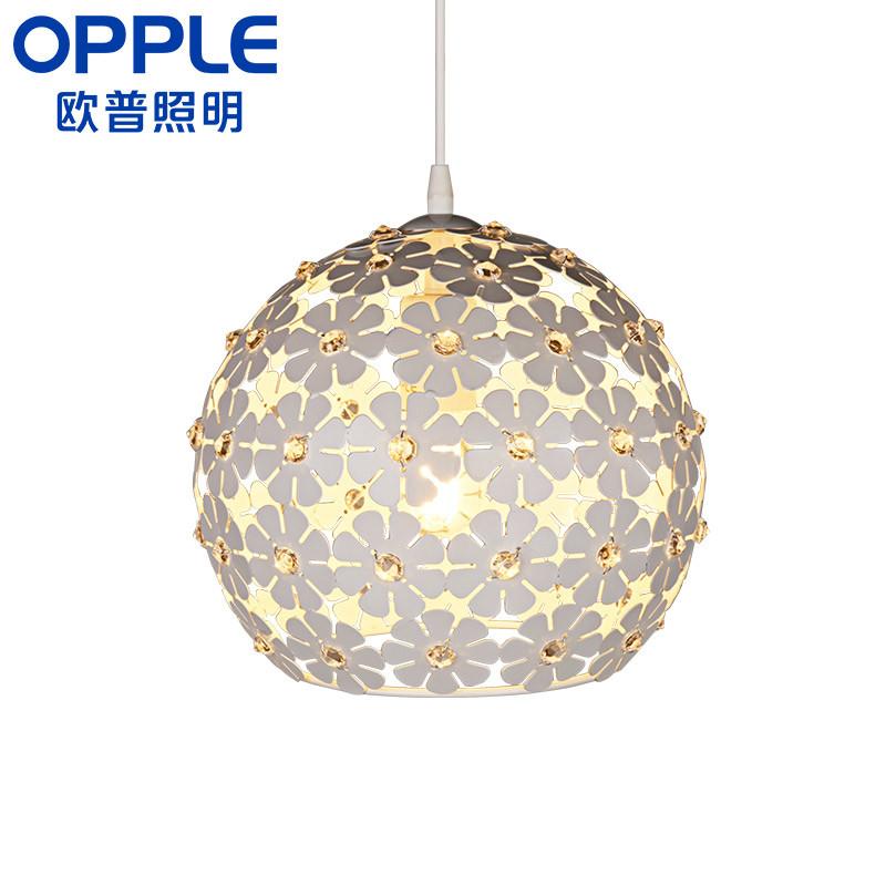 欧普照明 led餐厅灯浪漫 现代简约时尚单头餐吊灯个性 花之密语图片