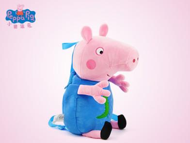 小猪佩奇卡通书包 佩佩猪儿童男孩女孩公仔背包毛绒玩具 乔治