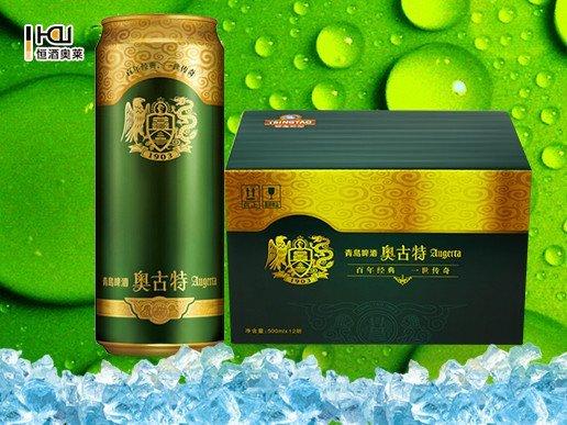 青岛啤酒奥古特500ml*12听/箱