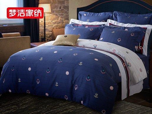 梦洁家纺 mee 纯棉四件套印花 全棉床上用品欧式男士威尔士伯爵