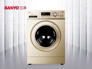 【黄金容量精智电机】三洋8公斤全自动滚筒洗衣机xqg80-f8130wz