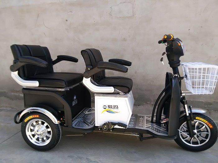毅玛老年代步车双人电动三轮车残疾人三轮电动车老人三轮车