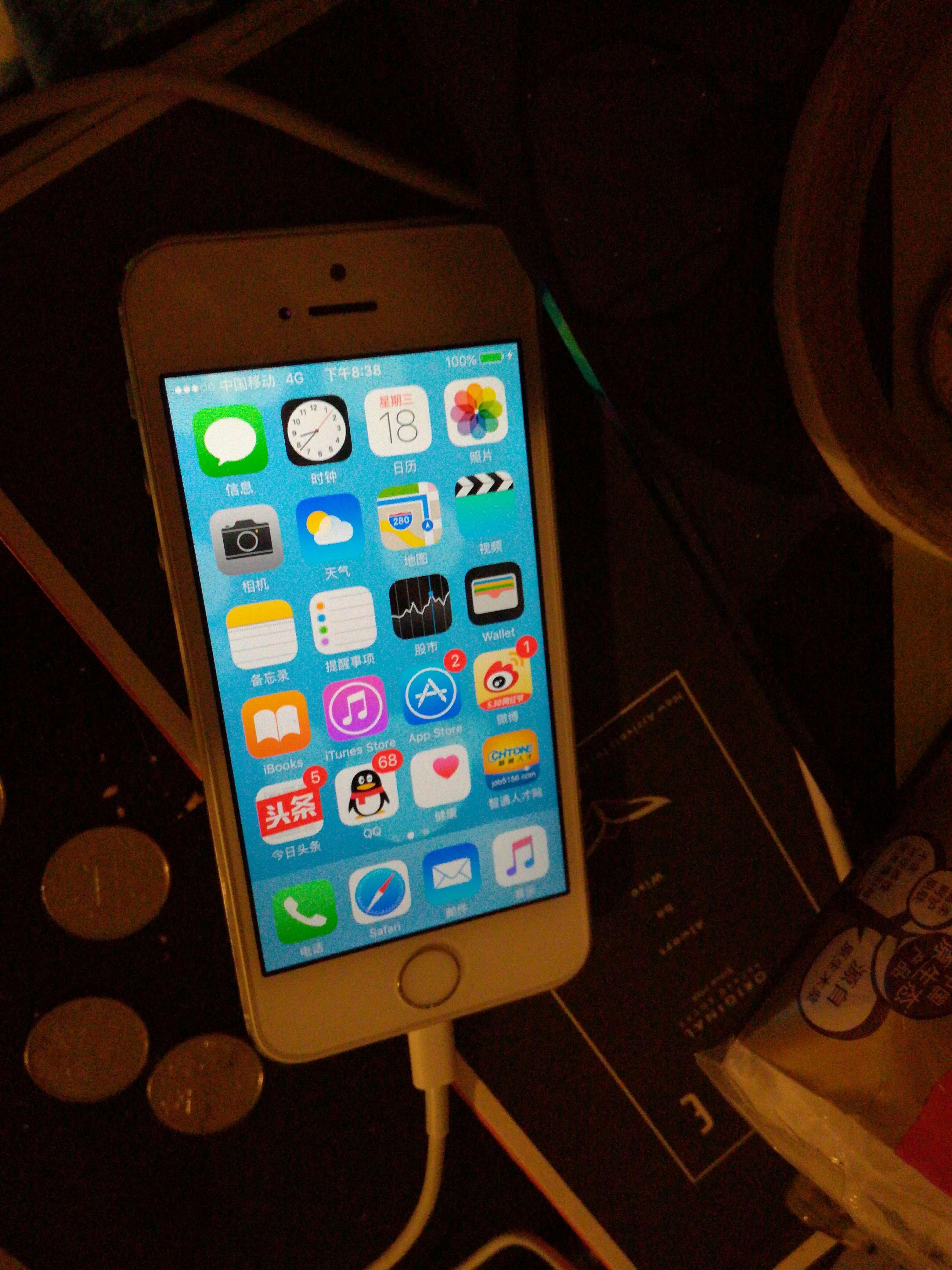 手机 苹果手机5s   有发票
