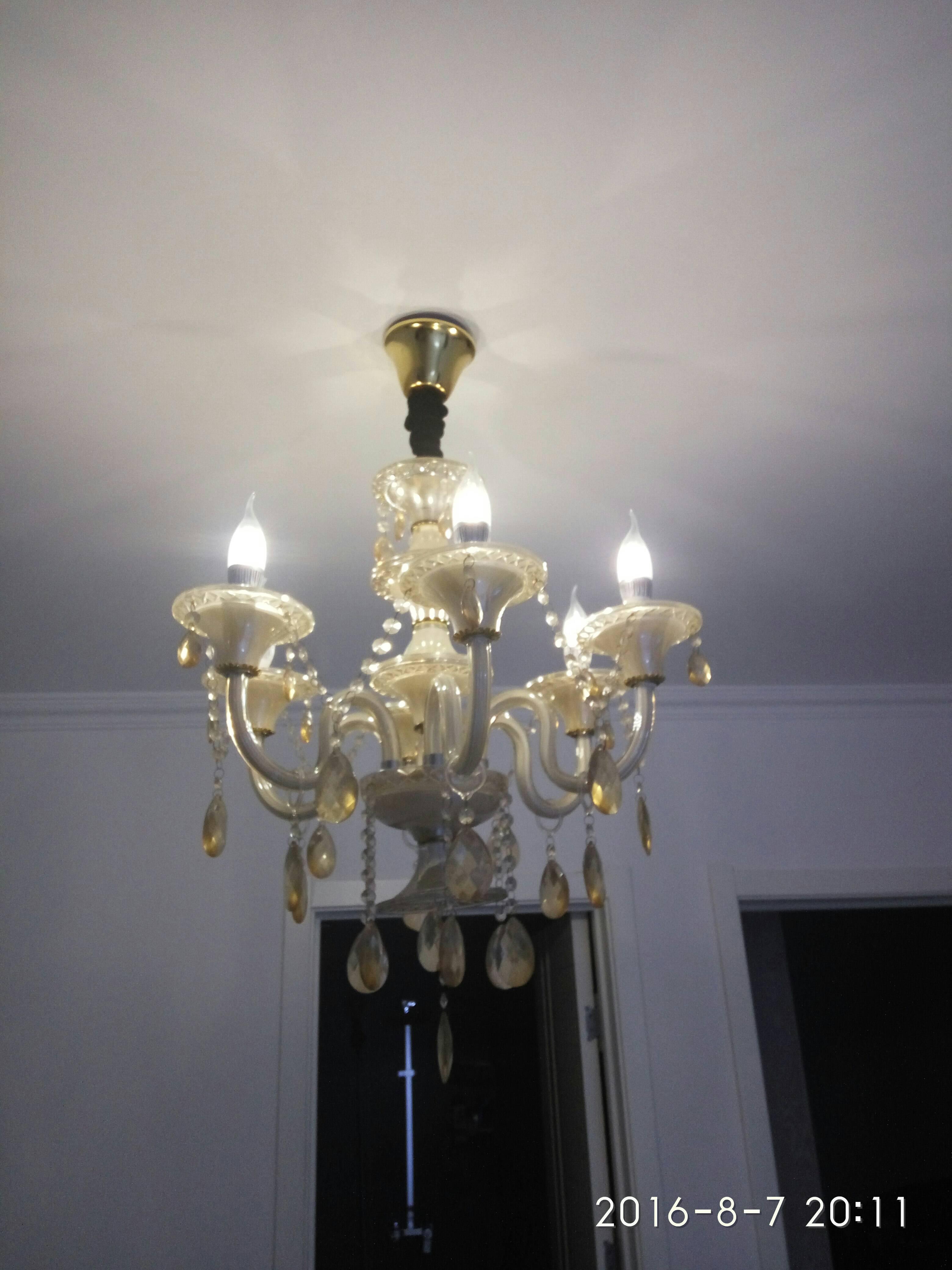 欧式水晶吊灯6头有光源