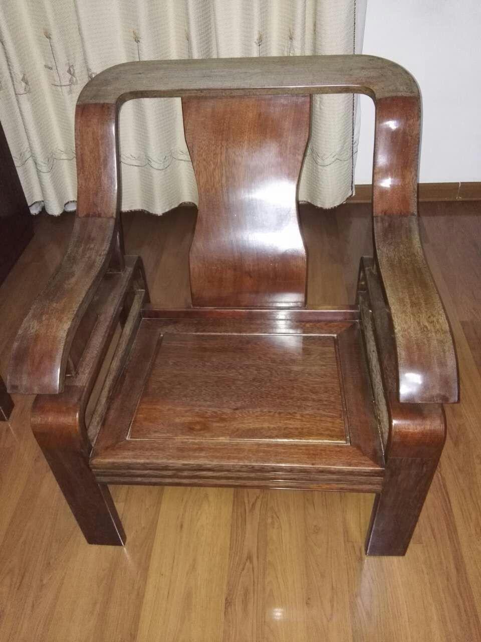 二手波罗格红木欧式沙发餐桌一套交易