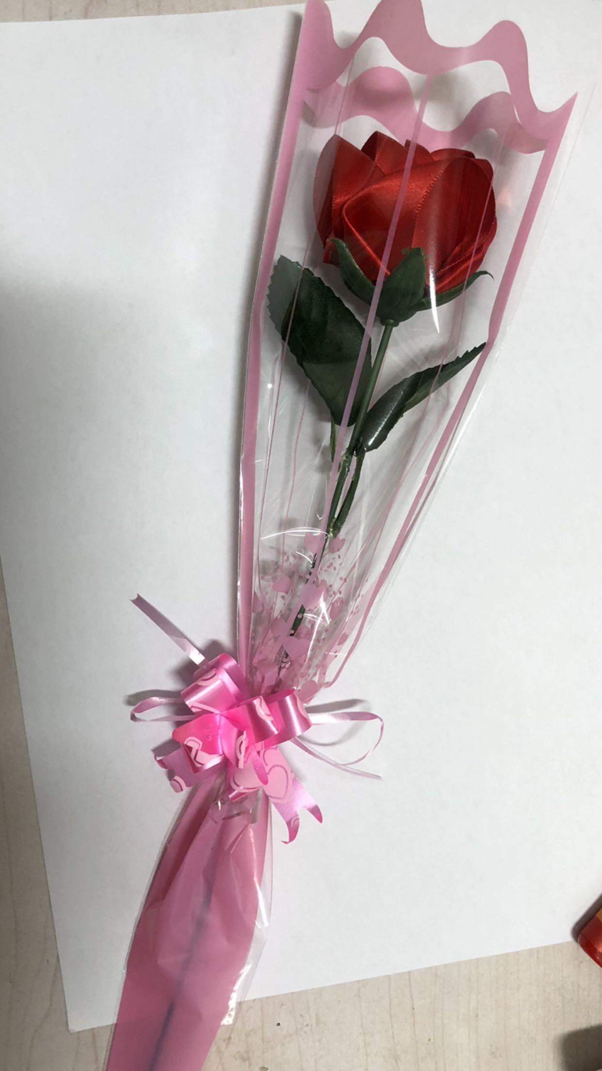 丝带玫瑰花