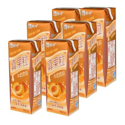 限天津: 蒙牛 真果粒牛奶(桃果粒)250ml*12盒 18元(下单立减)
