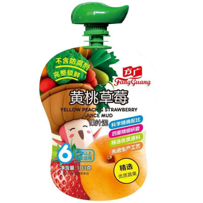 FangGuang 方广 婴幼儿果汁泥 103g 黄桃草莓味 2.99元包邮(2人拼团)