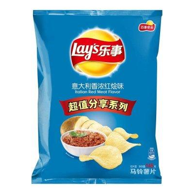 限地区: Lay's 乐事 意大利香浓红烩味 145g *2件 13.08元(2件6折)