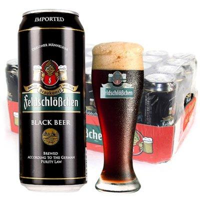 德国进口 (feldschlobchen)费尔德堡黑啤酒500ml*24罐