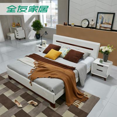 QuanU 全友 121802 卧室成套家具 1.8米床+床头柜*2+床垫