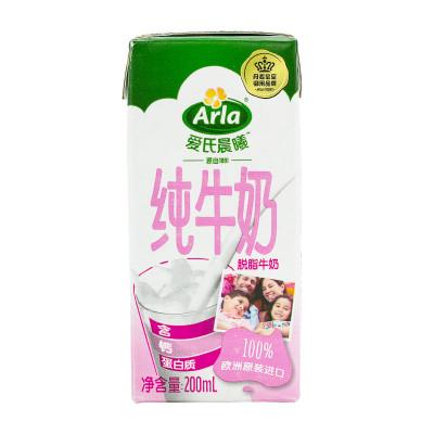 Arla 爱氏晨曦 脱脂牛奶 200ml 24盒 *2件