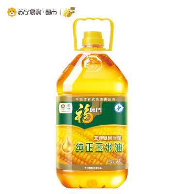 福临门 非转基因压榨 玉米油 3.5L *5件