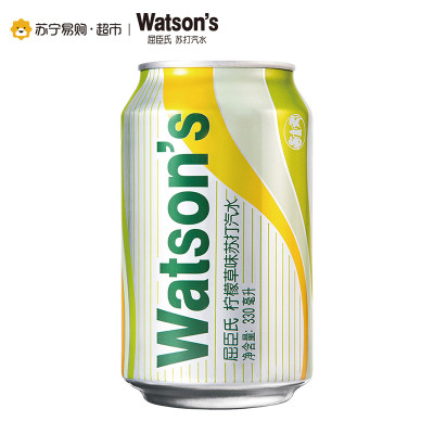 Watsons 屈臣氏 柠檬草味苏打汽水 330ml*24 +凑单品 140.8元包邮(下单立减)