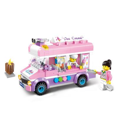 【371颗粒】启蒙儿童玩具积木拼插拼接兼容乐高积木玩具3-6岁7男孩8儿童–(暗影超跑)