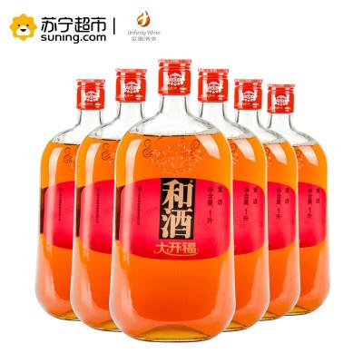 和酒 大开福 三年陈 上海老酒 黄酒 1000ml*6瓶 *2件 +凑单品