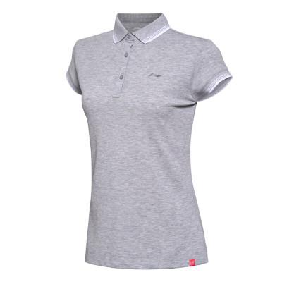 李宁 女子运动休闲针织短袖T恤polo衫