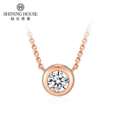 钻石世家 18K金泡泡钻石项链 I-J色 8分 1190元包邮(需用券)