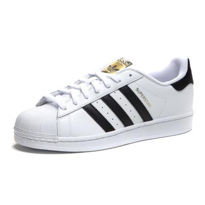 adidas 阿迪达斯 三叶草男女运动板鞋小白鞋贝壳头金标