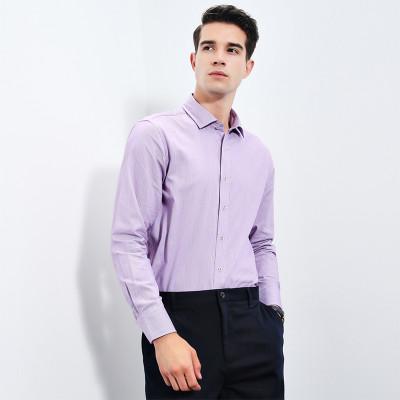 相思鸟 NC043 男士纯棉方领衬衫 *3件