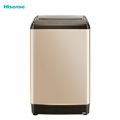 海信(Hisense)HB80DA332G 8公斤 全自动波轮洗衣机 磨砂金外观 10种洗涤程序 旋风快洗 清风干衣