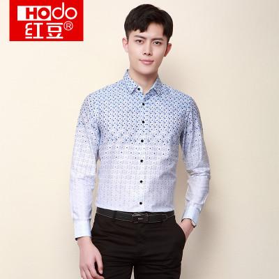 Hodo 红豆 DMGBC021S 男士休闲商务衬衫 *2件