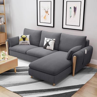 A家家具 DB1554 三人位+贵妃位布艺沙发组合 2539元包邮(满减)