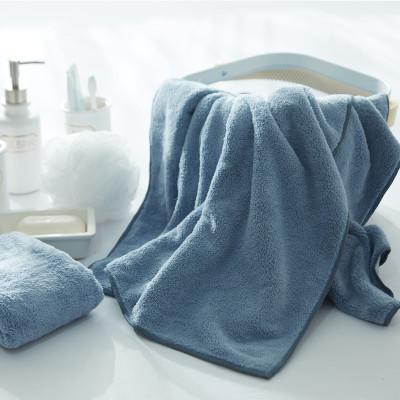 纯色毛巾浴巾速干两件套柔然纤维70*140,到手49元