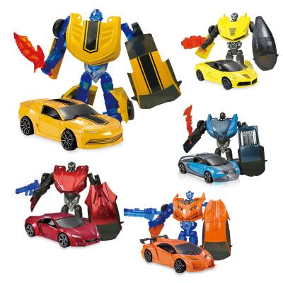 优卡家 U.KARGER 超级英雄【美国队长】合金玩具车模型 迷你车模机器人儿童 仿真变形玩具金刚小汽车超跑模型跑车