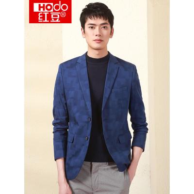 Hodo 红豆 DMHAX036S 男士格纹西服