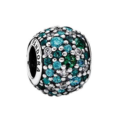 PANDORA 潘多拉 791261MCZMX 海洋蓝绿 925银密镶串珠 *2件