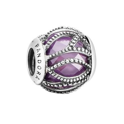 PANDORA 潘多拉 紫色交织的光华 791968ACZ 925银串饰