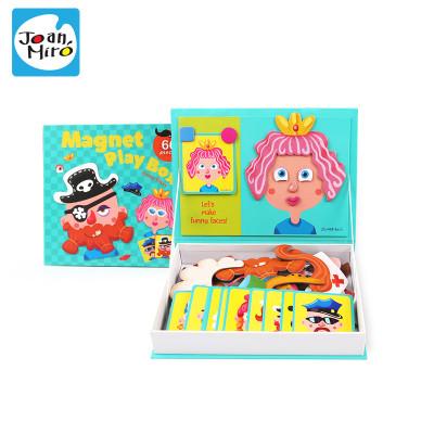 45.9元包邮  Joan Miro 美乐儿童拼图磁性贴早教益智玩具3-4-6岁磁铁书磁贴拼图礼盒 百变造型