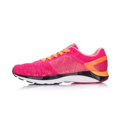 149元包邮  李宁(LI-NING)17夏季 超轻十四女子一体织反光减震轻质透气跑步鞋ARBM028