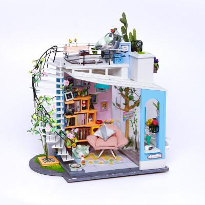 Robotime 若态小屋子模型 DG12 朵拉的马卡龙天台