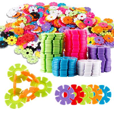 (300片)(买2送1)港比熊玩具雪花片大号儿童积木塑料玩具1-2-3-6周岁益智男女孩宝宝拼装拼插玩具(随机色)
