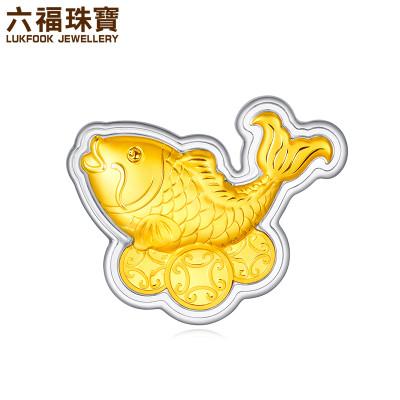 六福珠宝 HNA10034 招财锦鲤 足金吊坠 0.2g