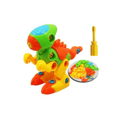 简乐 儿童拆装动物动手组合 拼插玩具 *2件