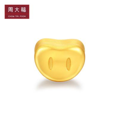 周大福 R22159 十二生肖猪 lucky猪鼻 足金吊坠