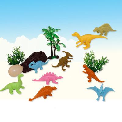 简乐 塑胶恐龙模型 9件套