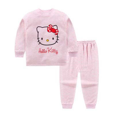 宝宝儿童内衣套装纯棉秋季男孩0女童婴儿1-3岁彩棉睡衣秋衣秋裤薄款