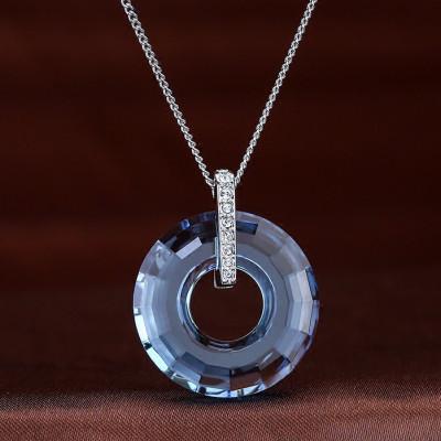 SWAROVSKI施华洛世奇 永恒的爱三颗钻水晶吊坠项链